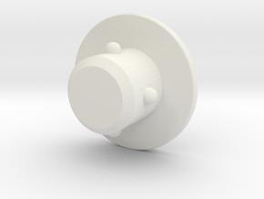 acc stl   M6 COVER PLUG 1 in White Natural Versatile Plastic