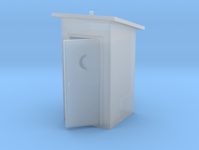 HO-Scale Slant Roof Outhouse in Frosted Ultra Detail