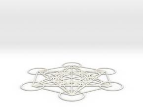 Metatron's cube in White Natural Versatile Plastic