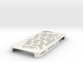 "iPhone 5 Case - ""Hex Holes"" in White Strong & Flexible"