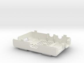 Raspberry Pi CASE 1.0 - BOTTOM in White Strong & Flexible