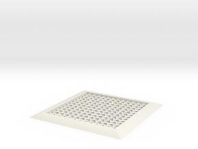 Chain Mail Coaster in White Natural Versatile Plastic