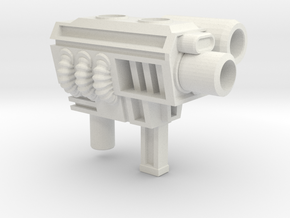 Generation 2 Sideswipe 5mm Gun in White Natural Versatile Plastic