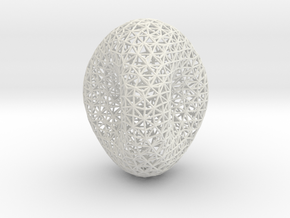 Genus 2 surface mesh in White Natural Versatile Plastic