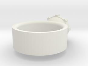 Eyestalkring in White Natural Versatile Plastic