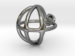 peaceball pend in Polished Silver