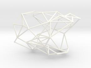 WEB BANGLE in White Processed Versatile Plastic