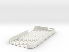 iPhone 5 Honey Comb Case in White Strong & Flexible