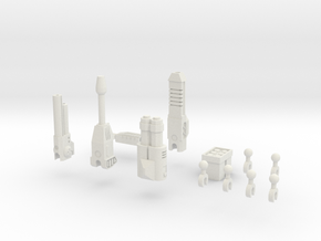 Sunlink - 3mm Weapons Pack #2 in White Natural Versatile Plastic