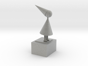 The Silent Princess From Game Monument Valley Ipad in Metallic Plastic