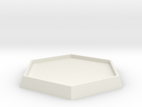 "1 5/6"" Diameter Hex Base in White Natural Versatile Plastic"