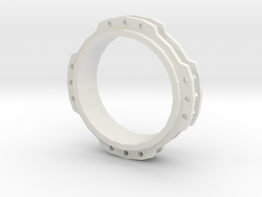 Connection  Ring in White Natural Versatile Plastic