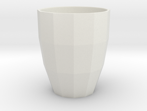 Low Poly Mug in White Strong & Flexible