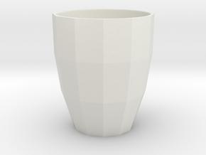 Low Poly Mug in White Natural Versatile Plastic