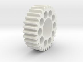 Emco V10 tumber gear in White Natural Versatile Plastic