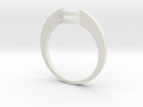 Custom Wedding Band v4 in White Strong & Flexible