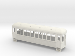 On30 trolley coach wood in White Natural Versatile Plastic