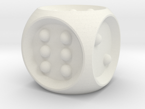 Braille Dice in White Natural Versatile Plastic