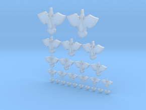 Blood Bird -  5mm, 10mm, 15mm, 20mm, 30mm Icons in Smooth Fine Detail Plastic
