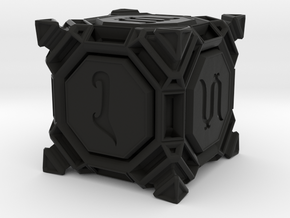 Six sided Dice - D6 'Stud' Style in Black Natural Versatile Plastic