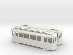Tramzug der Lockwitztalbahn TW5/BW12 in Spur H0m ( in White Natural Versatile Plastic