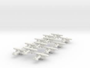 Fiat CR.42 Falco (Triplet) 1:900 x4 in White Natural Versatile Plastic