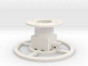 Stand for testing. Plastic version useful for tabl in White Natural Versatile Plastic