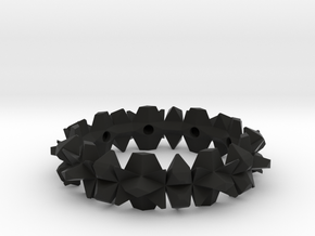 bangle 002 hollow 75mm in Black Strong & Flexible