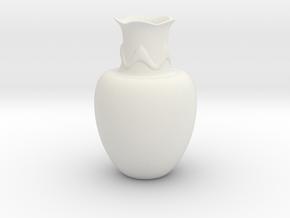 Decorative Vase  in White Natural Versatile Plastic