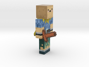 Samcube from Wondercraft with cape and sword ! in Full Color Sandstone