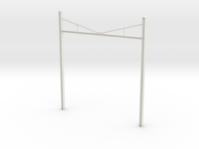 Catenary Pole Full Dimensions 4 inch centers in White Natural Versatile Plastic