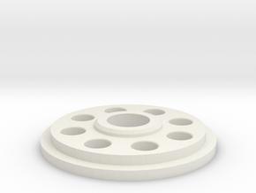 Pommel Insert - Charge Port Center Hole in White Natural Versatile Plastic