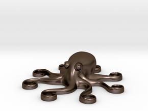 Octopus Pendant in Polished Bronze Steel