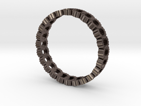 Chain Ring 22.5mm in Polished Bronzed Silver Steel