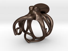 Octopus Ring 18mm in Matte Bronze Steel