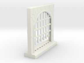Large Portcullis - Single in White Natural Versatile Plastic
