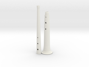 Tenor(+8) folk shawm in White Natural Versatile Plastic