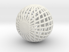 Ball Ball in White Natural Versatile Plastic