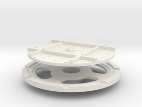 On16 wagon turntable 35mm diameter in White Strong & Flexible