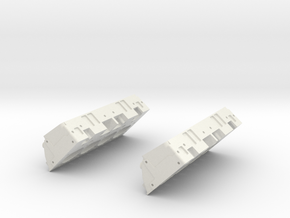 1/8 Small Block Chevy High Detail Heads in White Strong & Flexible
