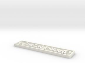 NB BADGE in White Natural Versatile Plastic