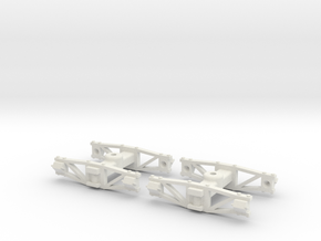 1:35 Sandy River archbar trucks in White Natural Versatile Plastic