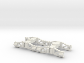 1:32 swing beam archbar trucks in White Natural Versatile Plastic