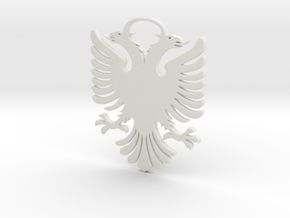 Double Headed Eagle -  key chain / hanger in White Natural Versatile Plastic