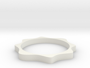 Cosinus ring in White Natural Versatile Plastic