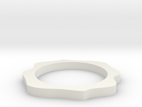 Sinus ring in White Natural Versatile Plastic