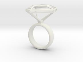 Diamantring_NR3_Ringgroesse_53 in White Natural Versatile Plastic