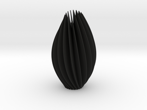 Twist Sculpture in Black Natural Versatile Plastic