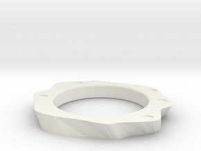 Periodic ring  in White Natural Versatile Plastic