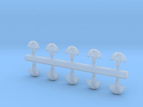10 Aquatic interceptors in Smooth Fine Detail Plastic